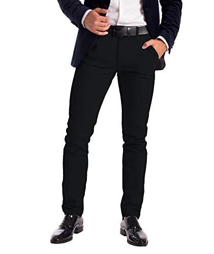 Mens Stretch Chino Trousers Designer Slim Fit Jeans Pant Cotton Spandex...