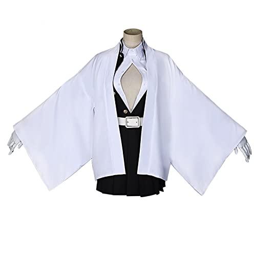lilongjiao Demonio Slayer Kanroji Mitsuri Ghost Matar el Traje de Equipo Disfraz de Halloween Disfraz de Rendimiento Conjunto de Disfraces (Color : M)