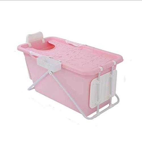 GAONA Tub Comfortabel Opvouwbaar Zwembad voor volwassenen, Opvouwbare Kinderbaden, Roze, 110 * 59 * 57cm