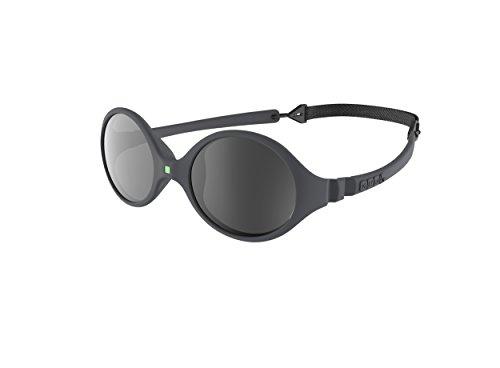 Ki ET LA – Gafas de sol para Bebé modelo Diabola – 100% irrompibles - color Gris – 0-18 meses