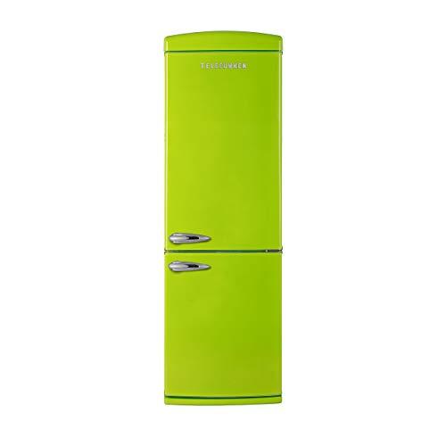 Telefunken TFK373FG2 Kühl-Gefrier-Kombination/A++ / 190,1 cm Höhe / 263 kWh/Jahr / 237 L Kühlteil / 104 L Gefrierteil/Retro-Design / 0-Grad-Zone/Grün