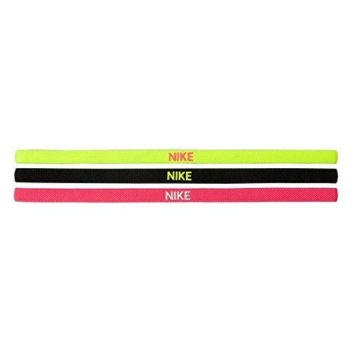 Nike Elastic Hairbands 3 Pack volt/black/hyper pink