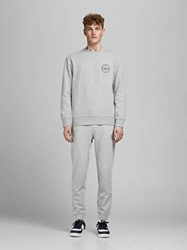 Jack & Jones Mens Gordon Shark Sweat Pants - Light Grey Melange - Small