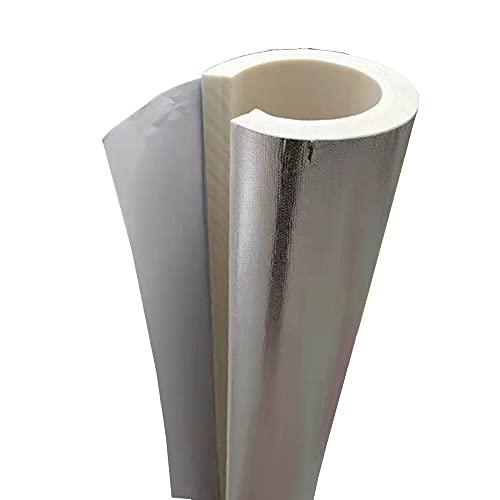 GEREP Isolamento Tubi Condizionatore, 0.95m Tubo Isolante Autoadesivo Isolante per Tubature, Foil Backed Pipe Wrap, ID27-219mm / Wall Thickness 30mm / ID76mm