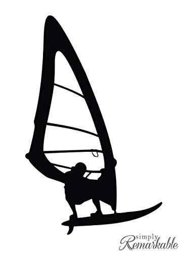 Pegatina Promotion Surfer Windsurfer Typ 2 15cm Aufkleber Sticker Autoaufkleber Wandtattoo Surf Kite Surfen Wassersport Fun Sea