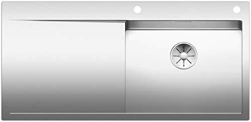 Blanco 521640 FLOW XL 6 S-IF 6 S Küchenspüle Seidenglanz, Edelstahl