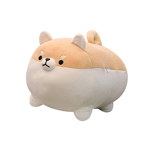 Anime plushies,Shiba Inu Dog Plush Pillow,Cute Corgi Stuffed Animal Toy Doll Gifts for Valentine,Christmas Kids Toy Can Be Used for Bed and Sofa Chair (Brown, 15 INCH)