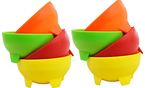 Set of 8 Multi Color Salsa Bowls