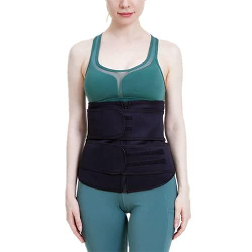 Shapewear Fajas Deportivas Neopreno Cinturón Lumbar de Sudoraicion Cinturón de Cintura para Mujeres Cinturón Transpirable Cintura Waist Trainer Deporte Lumbar S-3XL(Size:M)