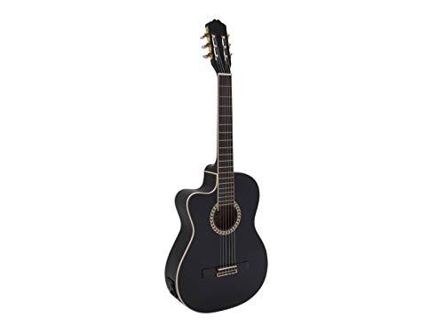 Guitarra de concierto WILLIAM para zurdos con fonocaptor, negro - Clásica /...
