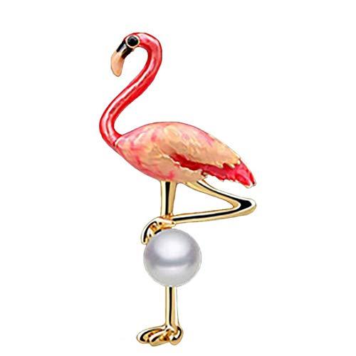Flamingo-Brosche Strass Dripping Öl-Revers Pin-Legierung Bunter Schal Pin Für Frauen