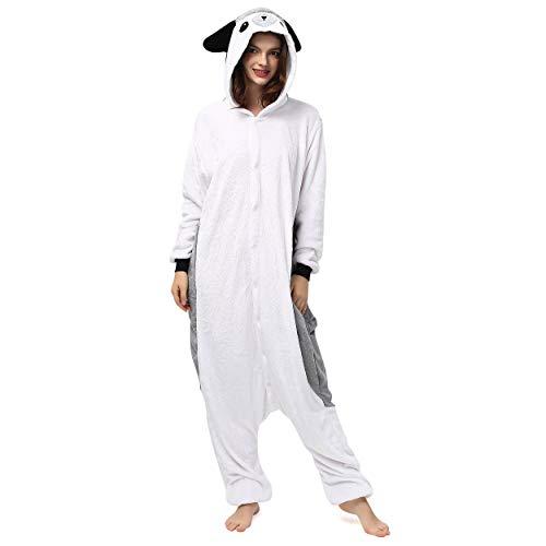 Katara 1744 (30+ Designs) Igel-Kostüm grau, Unisex Onesie/ Pyjama-Qualität für Erwachsene & Teenager