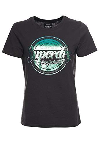 Superdry Original G Foil Entry tee Camiseta, Negro (Vintage Black 06a), XXS (Talla del Fabricante:6) para Mujer
