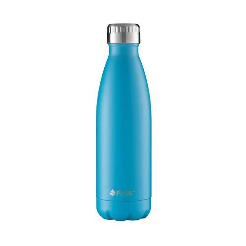 FLSK, de originele drinkfles, thermosfles, isolatiefles, houdt de 18 uur warm - 24 uur koud (kleur Caribbean, grootte 500ml)