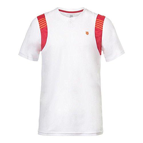K-SWISS - Camiseta de Deporte - White/Rose