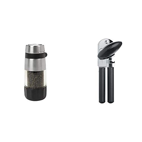 OXO Good Grips Pepper Grinder, Stainless Steel & Good Grips Soft-Handled...