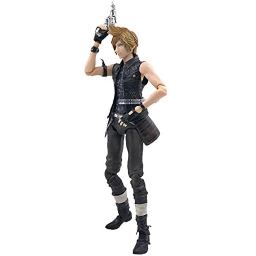 siyushop Final Fantasy: Prompto Play Arts Kai Action Figure - Ausgestattet Mit Waffen Und Austauschbaren Händen - High 25cm (Nicht Originale Version)