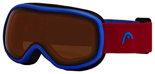 HEAD Unisex jeugd Junior Skibril Ninja, oranje/rood, één maat
