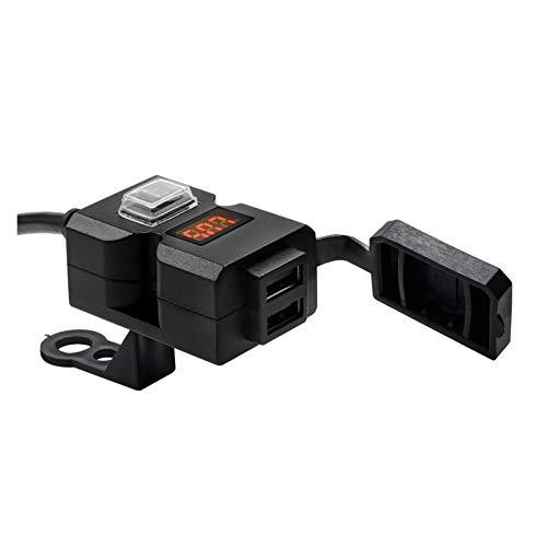 shiqi Puerto USB Dual QC3.0 Cargador de Motos a Prueba de Agua Adaptador de Cargador de Manillar de Motocicleta Impermeable Adaptador de alimentación de la Fuente de alimentación para teléfono móvil