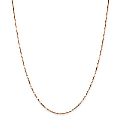 Diamond2deal Collana a catena in oro rosa 14 K aragosta box, 45,7 cm