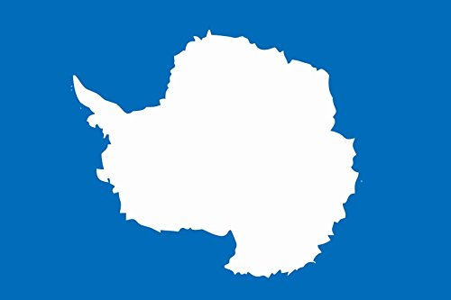 U24 Aufkleber Antarktis Flagge Fahne 8 x 5 cm Autoaufkleber Sticker