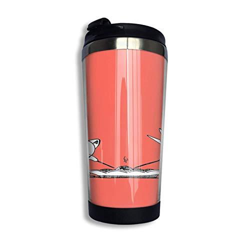 XCNGG Takoyaki Kero And Spinel Tazza da viaggio Tazza da caffè Bicchiere con isolamento sottovuoto in acciaio inossidabile 13,5 Oz
