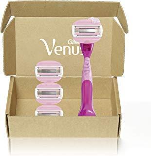 Gillette Venus ComfortGlide White Tea Women's Razor - 1 Handle + 4 Refills