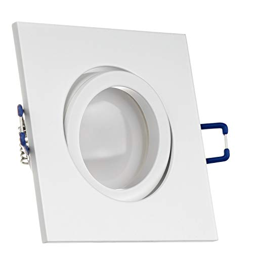 LEDANDO LED Spanndecken Einbaustrahler Set Weiß matt 5W DIMMBAR GU10 Deckenstrahler - Spots - Deckspot - 230V