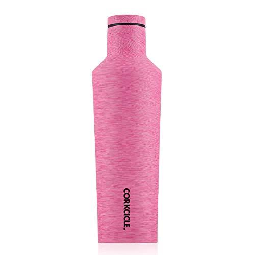Corkcicle Kantine–Wasser Flasche und Thermos–hält Getränke kalt für über 25, Hot für über 12Stunden–Triple isoliert mit Bruchsichere Edelstahl-Konstruktion, Heathered Pink–16oz