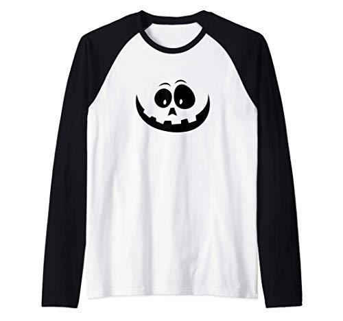 Disfraz de Jack O Lantern Calabaza Halloween Camiseta Manga Raglan