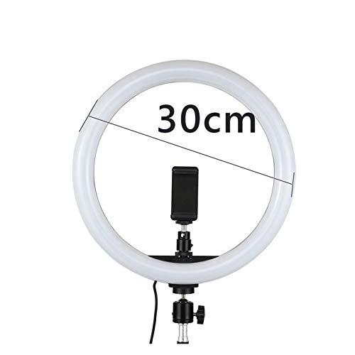 GYY Lámpara de 30 cm de luz de la lámpara con el Soporte del Soporte del Soporte del trípode de 1,1 m 12'Dimmable LED fotografía iluminación 12W para Xiaomi iPhone Huawei para Youtube Video TikTok