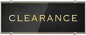 Clearance Classic Gold Premium Brushed Aluminum Sign CGSignLab 5-Pack 8x3