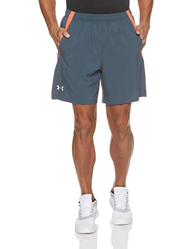Under Armour Men's Launch Stretch Woven 7-inch Shorts , Wire (073)/Reflective , X-Large