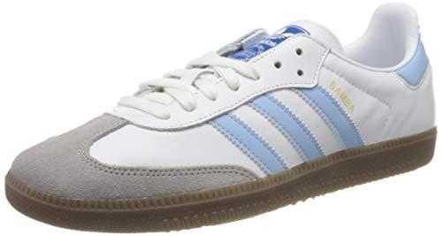 adidas Herren Samba Og Sneaker, FTWR White/Clear Sky/Clear Granite, 38 EU