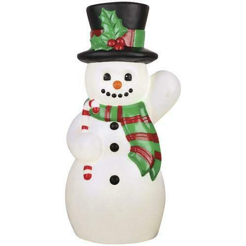 24' Lighted Blow Mold Snowman Sculpture Outdoor Christmas Yard Decor Holiday