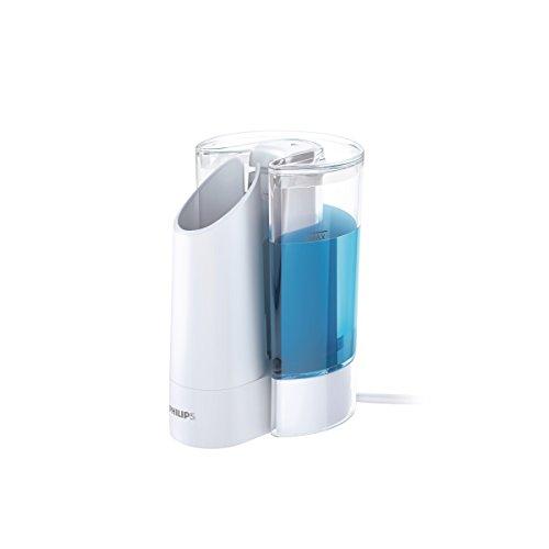 Philips Sonicare AirFloss Ladegerät & Nachfüllstation HX8460/01 - automatisches Befüllen und Laden des AirFloss Ultras zur Zahnzwischenraumreinigung – Weiß