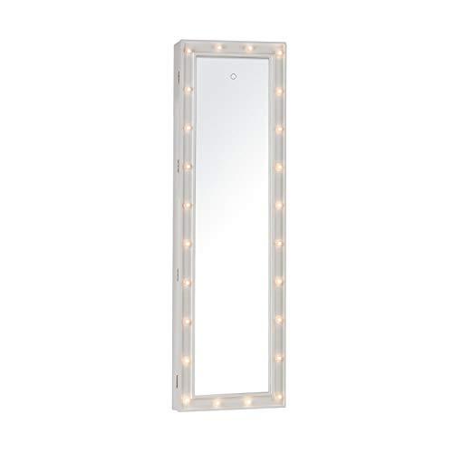 OneConcept Smilla - Schmuckschrank, Schmuckspiegel, Spiegelschrank, Ganzkörper-Spiegel, Maße: 47 x...