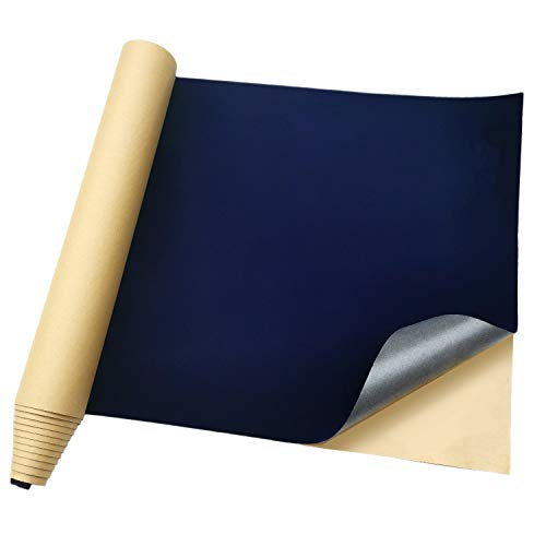 Large Self Adhesive Velvet Flock Liner for Jewelry Drawer Craft Fabric,DIY Sewing Material,19 Inches by 100 Inches (Purplish Blue)