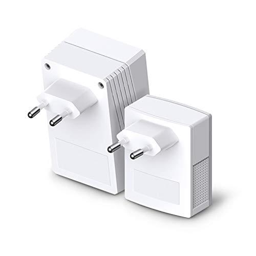 TP-Link TL-WPA4220KIT AV500 WiFi N300 Powerline Netzwerkadapter(300 Mbit/s, 3 Ports, Plug & Play, Kompatibel mit Adaptern anderer Marken, 2er Set) weiß