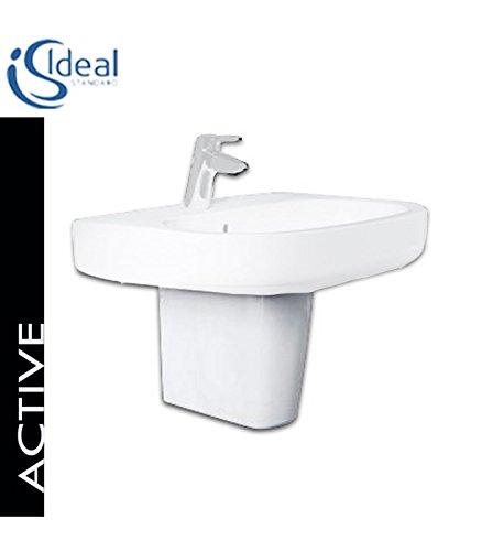 Ideal Standard Active T4192 semicolonna per lavabo bianco europeo