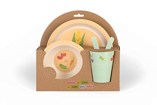 Vajilla YEMA para Niños en Bambú Biodegradable - 5 piezas