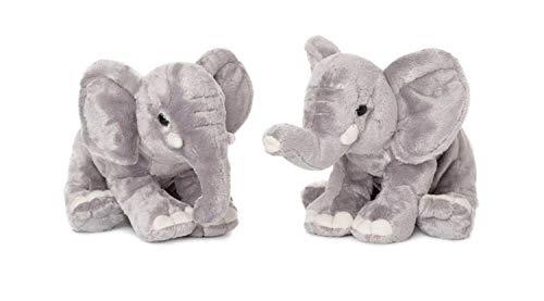 WWF - Peluche Elephant - Peluche Réaliste avec de Nombreux Détails Ressemblants - Douce et Souple - Normes CE - Trompe dépliée - Hauteur 25 cm