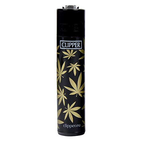 Clipper Golden Leaves Schwarz-Gold Limited Edition Limitierte Feuerzeuge Normalflamme Soft Flamme inkl. 1x Sepilo® Turbo Feuerzeug gratis (1)