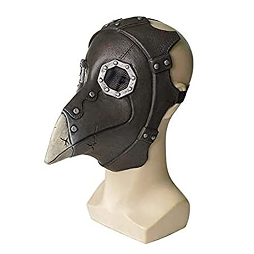 EraSpooky Plague Doctor Mask Costume di Halloween Becco di Uccello Puntelli di Naso Lungo Punk Copricapo Spaventoso
