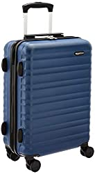 AmazonBasics Hardside Luggage Spinner - 55cm Cabin Size, Navy Blue, Approved for most budget airlines,AmazonBasics,N989-21,cabin suitcase,luggage suitcase,suitcase for travel,suitcase set,suitcases with wheels,trolley bags for travel 80 cms,trolley bags with lock,trolley bags with wheels under 2000,trolly,wheeler bag