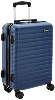 AmazonBasics Bagage rigide à roulettes - 55cm Taille cabine, Bleu marine, Approuvé par la plupart des compagnies aériennes low cost