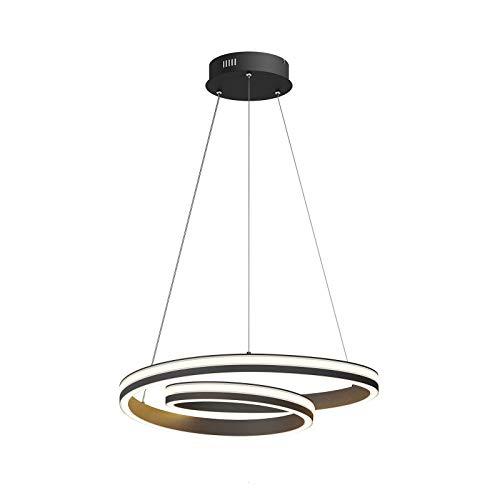 LED Lámpara colgante 'Gwydion' (Moderno) en Negro hecho de Aluminio e.o. para Salón & Comedor (A+) de Lucande | lámpara colgante LED, lámpara colgante LED, lámpara LED, lámpara de techo, lámpara de