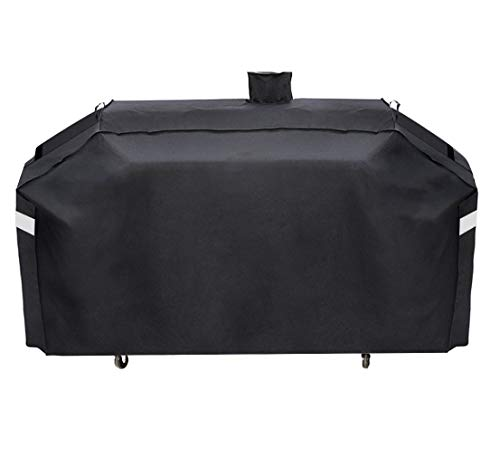 ProHome Direct Heavy Duty GC7000 Grill Cover for Smoke Hollow 4in1 Combo Grill Cover and Pit Boss Memphis Ultimate Grill Cover,79 Inch UV and Water Resistant Grill Cover,Black