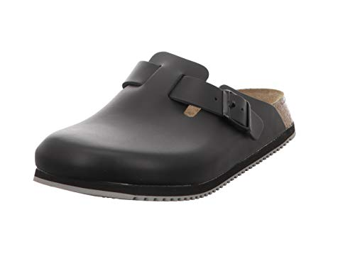 Birkenstock Professional BOSTON NL SCHWARZ 60194, Zoccoli e sabot Unisex adulto, Nero (SUPERLAUF), 44