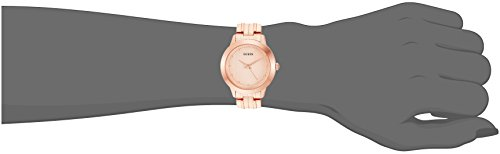 GUESS Women's Stainless Steel Petite Casual Watch, Color: Brushed Rose Gold-Tone (Model: U0989L6)